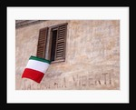 Italian Flag Hanging from Window by Corbis