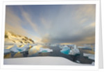 Evening Light on Mountains and Icebergs on Antarctic Peninsula by Corbis