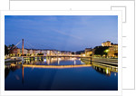 Palais du Justice Footbridge Reflecting on the Saone by Corbis