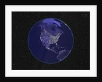 City Lights in Dark View of North America by Corbis