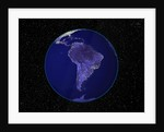 City Lights in Dark View of South America by Corbis
