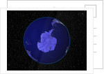 Dark View of Earth Centered on Antarctica by Corbis