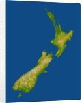 Topographic Image of New Zealand by Corbis