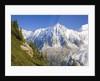 Aiguilles de Mont Blanc, Aguilles du Midi and Glacier des Bosson by Corbis