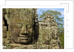 Detail of Face on Bayon Temple by Corbis