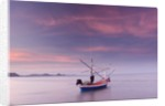 Fishing Boat at Sunset in Gulf of Thailand by Corbis