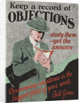 Keep a Record of Objections Motivational Poster by Corbis