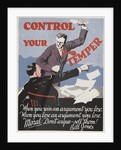 Control Your Temper Motivational Poster by Corbis