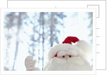 Santa Claus toy waving by Corbis