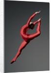 Ballet dancer in red leotard by Corbis