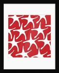 White Starfish on Red Pattern by Corbis