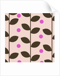 Brown Leaves on Pink Pattern by Corbis