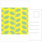 Green Leaves on Yellow Pattern by Corbis