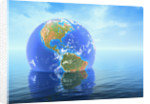 Earth Floating in Water by Corbis