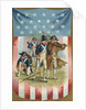 Fourth of July Postcard with Continental Soldiers by Corbis