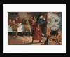 Halloween Postcard with Witch and Demons by Corbis