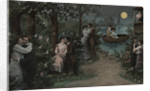 Postcard of Couples on Lover's Lane by Corbis