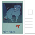 Aries Postcard by Paul Dubosclard