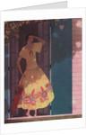 Illustration of Woman in Yellow Dress by Harriet Meserole