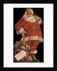 Illustration of Santa with Bag of Toys by Corbis