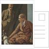 Illustration of Two Men in a Locker Room by Sheridan