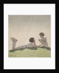 Illustration of Sisters Talking on Hill by Andre Edouard Marty