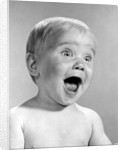 1960s Portrait Baby With Eyes And Mouth Wide Open by Corbis