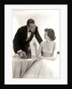1950s Formal Dress Couple Man In Tuxedo Woman Wearing Gown Holding Champagne Glass by Corbis