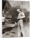1930s Elderly Farmer Checking Mail Mailbox Retro by Corbis