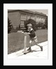 1930s Boy Outside On Scooter Having Fun by Corbis
