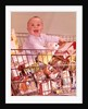1960s Happy Baby Sitting Inside Shopping Cart Full Of Groceries by Corbis