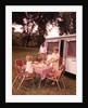 1960s Family Rv Camping Father Grilling Mother And Girls Setting Table by Corbis