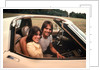 1970s Young Couple Man Woman Sitting Cockpit Of Chevrolet Corvette Car Sports by Corbis