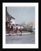 1950s Kids On Suburban Neighborhood Sidewalk About To Cross Street By School Crossing Sign by Corbis