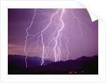 Lightning Strikes in the Foothills near Tucson by Corbis