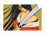 Anime Fighter with Sword by Corbis