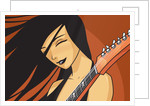 Girl with Guitar by Corbis