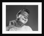 1950s Young Man Shaving With Safety Razor by Corbis