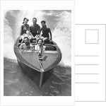 1930s Couples Five Men And Women Riding In Runabout Power Boat by Corbis