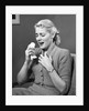 1950s Woman In Chair About To Sneeze Sneezing Handerchief In One Hand Cold Flu Allergy Cough Coughing by Corbis