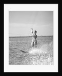 1960s Woman Water Skiing Waving With One Hand by Corbis