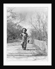 1940s Boy Walking Down Country Road With Can Of Worms And Fishing Pole by Corbis