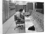1960s 1970s Computer Room Mission Control Center Houston Texas 2 Men Sitting At Console by Corbis