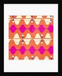 Retro Wave Pattern Orange by Corbis