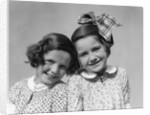 1920s 1930s Portrait Two Girls Head To Head by Corbis