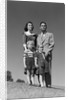 1950s Family Portrait Father Mother Daughter Son Standing Together Outdoor by Corbis