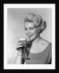 1960s Retro Woman Beer Glass Smile by Corbis