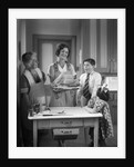 1920s 1930s Mother Grandmother Boy Girl Cooking Turkey In Kitchen by Corbis