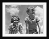 1930s Boy And Girl Bright Summer Day Sky With Clouds by Corbis