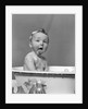 1940s Wet Baby In Bath Covered With Soap Suds Sticking Out Tongue by Corbis